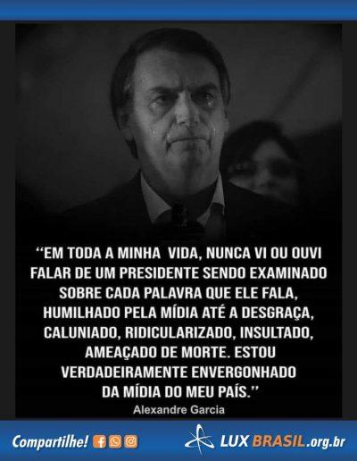 banner bolsonaro alexandre garcia