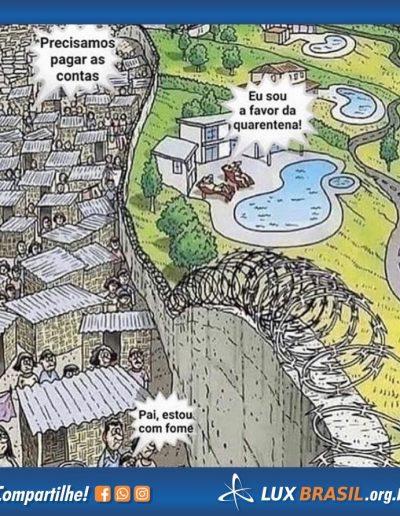 diferença ricos e pobres quarentena